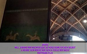 Tür in der Schlosskirche - Wittenberg - go 4 Jesus - Jesus lehrte - Bibel - Christine Danzer