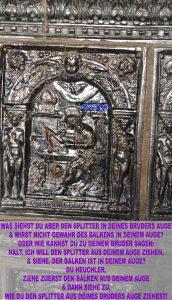 Bibelzitat,Markus Kachel - Evangeliumskachelofen im Lutherhaus - Wittenberg - go 4 jesus - Jesus lehrte - Bibel -Christine Danzer