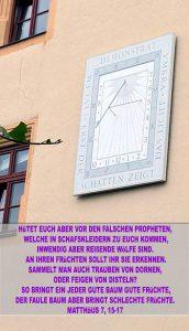 Bibelzitat,Sonnenuhr - Universität Wittenberg - go 4 Jesus - Jesus lehrte - Bibel - Christine Danzer