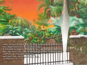 Graffiti- 1. Petrus 3, 3-4 - Foto: Christine Danzer - go 4 Jesus - Bibel