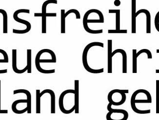 Religionsfreiheit in Deutschland gefährdet
