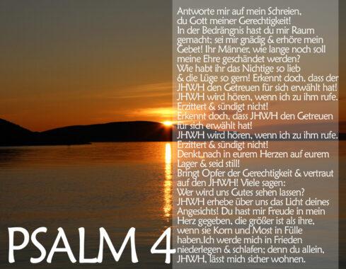 Sonnenuntergang mit Psalm 4, Bibel, Foto: Thomas Hoffmann, go 4 Jesus